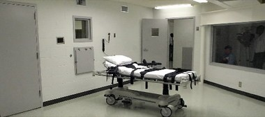 Alabama's lethal injection chamber at Holman Correctional Facility in Atmore. (AP photo/Dave Martin)