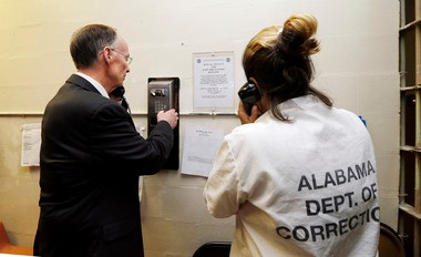 Gov. Robert Bentley at Julia Tutwiler Prison for Women. (file)