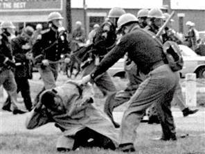 March 7, 1965, marchers on their way to Montgomery to push for the right of blacks to vote were attacked by deputy sheriffs and state police. The day became forever known as Bloody Sunday and changed the nation and Alabama
