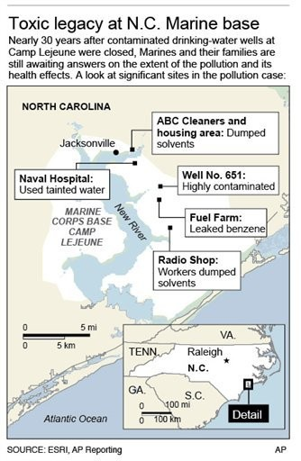 Marines failed to test Camp Lejeune water, possibly a million ... on