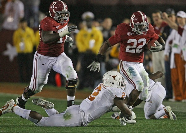 Alabama last played Texas in the 2010 BCS title game in the Rose Bowl.