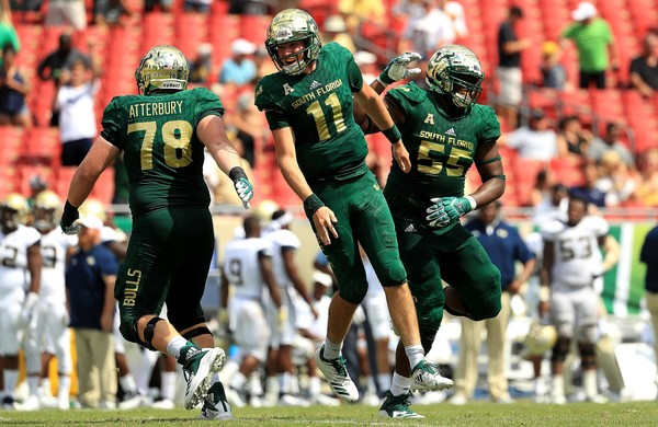 Blake Barnett accounted for four touchdowns during South Florida's win over Georgia Tech on Saturday.