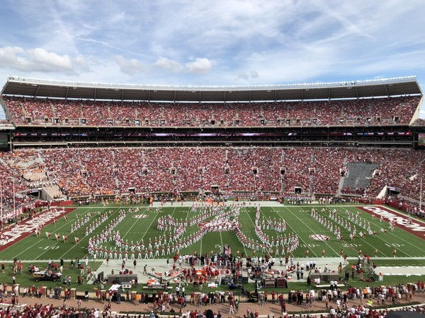 Bryant-Denny Stadium for the 2017 game with Tennessee.