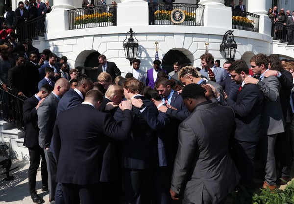 Former Alabama punter JK Scott prayed for Donald Trump on Tuesday at the White House.