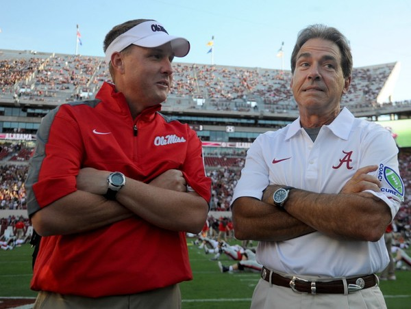 Hugh Freeze is one of only three SEC coaches to beat Nick Saban multiple times during Saban's time in Tuscaloosa. (Mark Almond/malmond@al.com)