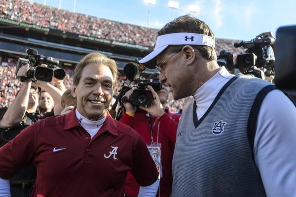 Nick Saban's Alabama and Gus Malzahn's Auburn face each other for the sixth time Saturday. (Vasha Hunt/vhunt@al.com)