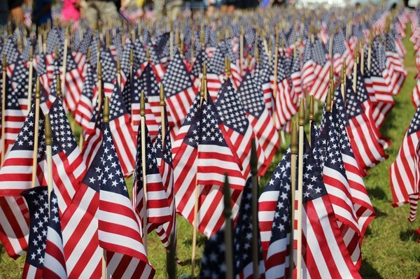 Photos of the American flag display at Grace Place Church in Enterprise over the Memorial Day weekend. (Grace Place Church)
