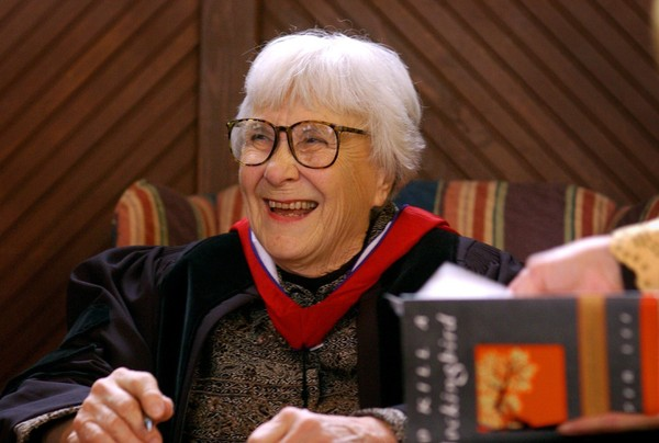 Harper Lee receives Honorary Doctor Of Letters at The Univertsity Of The South, in Sewanee, Tennessee. The 2018 award honoring her will be presented in Washington D.C. later this summer. (Photo Baesske. 1/27/2004)