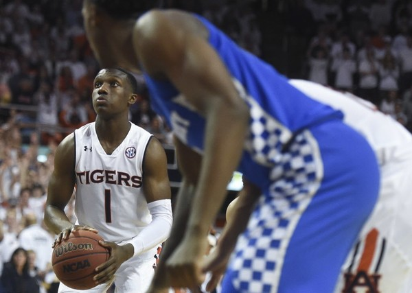 Auburn guard Jared Harper is working out for the Atlanta Hawks today as part of a pre-draft evaluation. (Julie Bennett/jbennett@al.com)