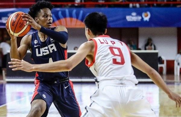 Four-star small forward Isaac Okoro committed to Auburn at midnight. (Photo courtesy FIBA via 247Sports)