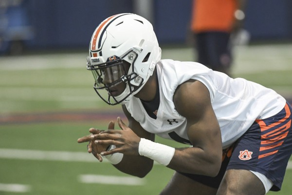 Auburn cornerback Noah Igbinoghene, did not practice on Tuesday, but is not expected to be out long.