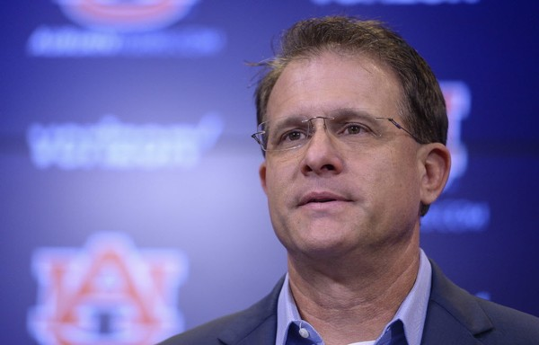 Auburn head coach Gus Malzahn talks to the media Tuesday, Aug. 29, 2016, during his weekly NCAA press conference at the Auburn Athletic Complex in Auburn, Ala.