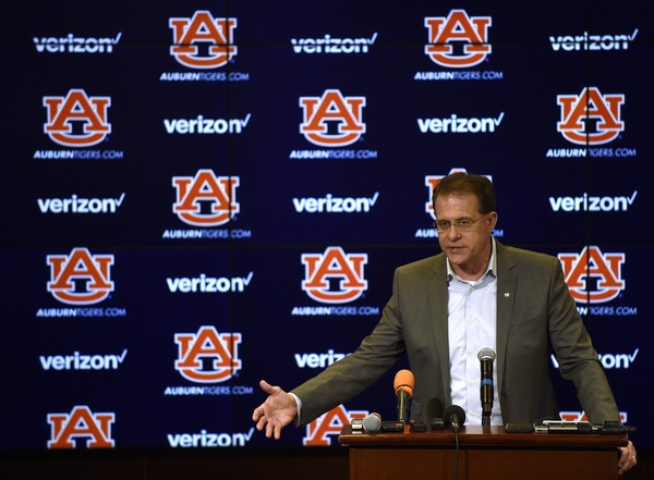 Auburn coach Gus Malzahn during a press conference on National Signing Day on Wednesday, Feb. 7, 2018 in Auburn, Ala.