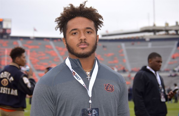 Three-star defensive end Caleb Johnson committed to Auburn and signed with the Tigers on Wednesday. (Photo courtesy 247Sports)