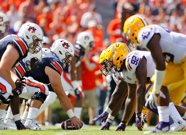 Auburn is still evaluating its starting five along the offensive line following the team's loss to LSU on Saturday. (Kevin C. Cox/Getty Images)