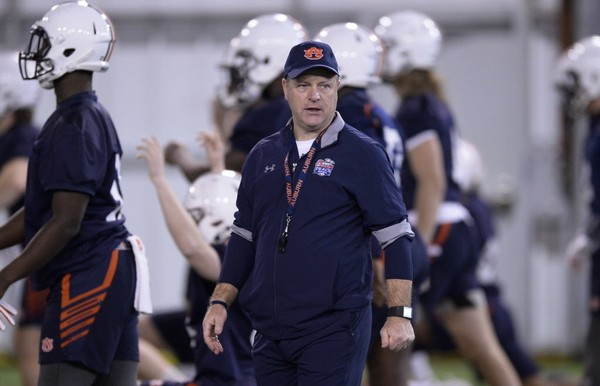 Auburn running backs coach Tim Horton hopes to establish a better rotation in the backfield this season. (Julie Bennett/jbennett@al.com)