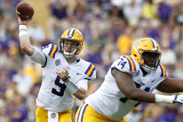 Like Auburn cornerback Jamel Dean, LSU quarterback Joe Burrow was a former Ohio State signee who sought a better opportunity in the SEC. (Jonathan Bachman/Getty Images)