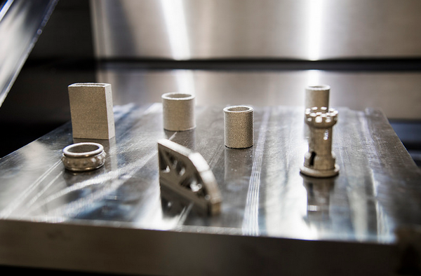 Additive manufacturing uses 3-D printing to make parts layer-by-layer from metals, plastics or other materials using a computer-aided design model.