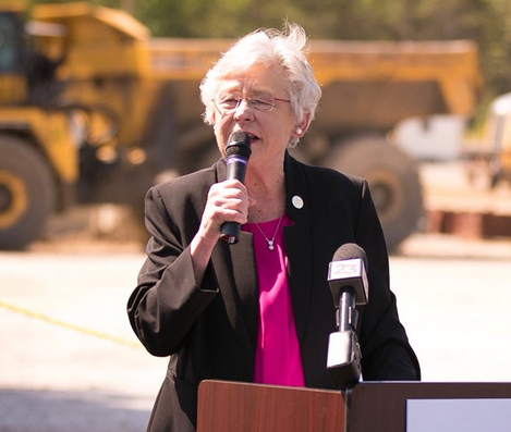 Gov. Kay Ivey speaks at the opening of the new Warrior Met Coal Co. No. 7 Mine North portal facility in Brookwood Wednesday, May 2, 2018.