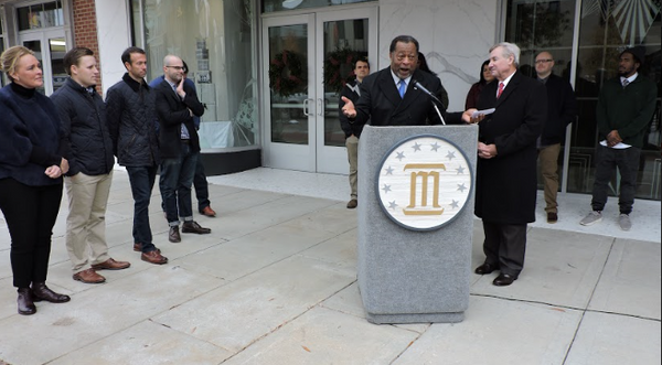 Montgomery civic and community leaders turned out to celebrate the Kress Building at 39 Dexter project.
