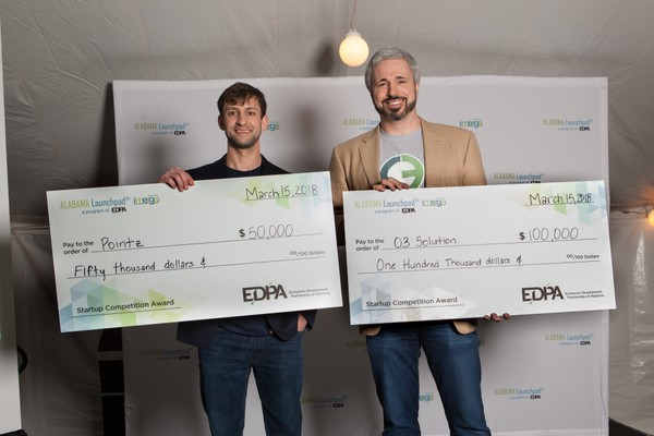 Startup Pointz won $50,000, while O3 Solution won $100,000 in Alabama Launchpad earlier this year.