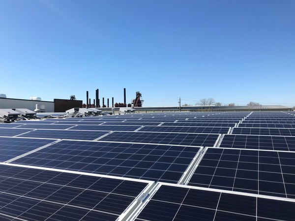 Marx Brothers has installed a 132-kilowatt solar photovoltaic energy system on the roof of its facility in Birmingham.