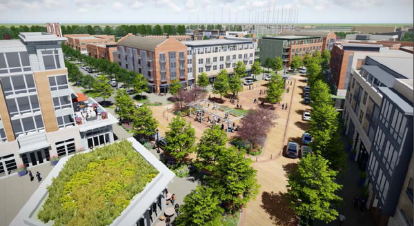 The $350 million MidCity development is taking shape and the first phase could be complete by the end of next year, organizers say.