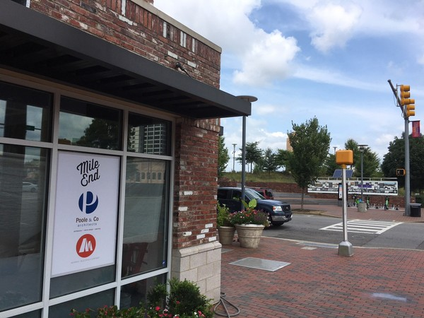Mile End Deli is expected to open across the street from Railroad Park in downtown Birmingham in early fall. (Erin Edgemon/eedgemon@al.com)