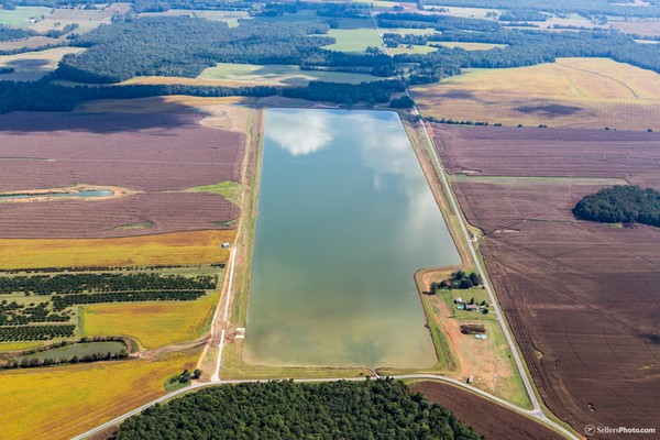 The Bragg Farm Irrigation Reservoir, located in Taft, Tennessee, was designed and built by Stanley Construction Company of Huntsville. The project recently won an award as the largest project of its kind in the Southeast.