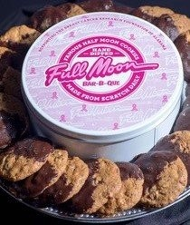 The half moon cookie tins have gone pink and one dollar from every pink tin of cookies purchased, beginning today, will be donated to the Breast Cancer Research Foundation of Alabama.