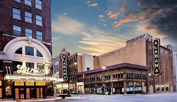 This is an artist's rendering of what a new, vertical sign will look like along 18th Street North outside the Alabama Theatre in Birmingham, Ala. The sign is scheduled to be unveiled on Dec. 31, 2017. (Photo courtesy of Birmingham Landmarks Inc.)