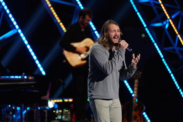 """Brandon Elder, a singer-songwriter from Arab, covered """"Home"""" by Chris Daughtry on the April 1, 2018, episode of """"American Idol."""" (ABC photo/Eric McCandless)"""