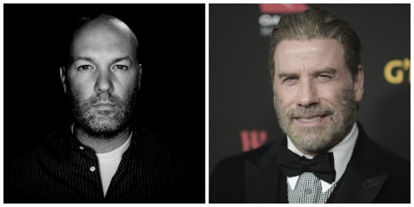 "Fred Durst, left, is in Birmingham filming the movie ""Moose"" with actor John Travolta. Durst, the former frontman of Limp Bizkit, is director and co-writer of the film. Travolta, right, stars as the title character. (Fred Durst website photo, left; photo by Richard Shotwell/Invision/AP, right)"