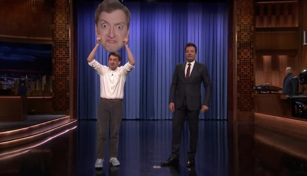 """Jack Blankenship, left, with Jimmy Fallon on """"The Tonight Show"""" on Monday, Oct. 22, 2018. (NBC)"""