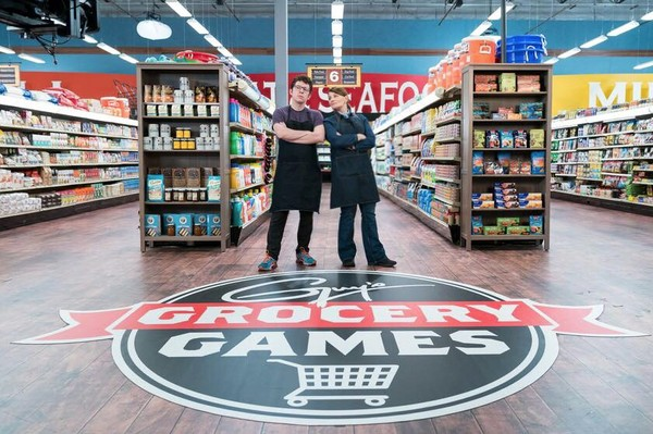 "Birmingham chef Martie Duncan, right, teams with Justin Warner on the June 6, 2018, episode of ""Guy's Grocery Games."" (Martie Duncan Facebook photo)"