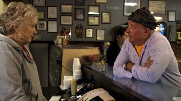 "Andrew Zimmern visited Miss Myra's Pit Bar-B-Q in Vestavia Hills, Ala., in January 2013 for an episode of his Travel Channel show ""Bizarre Foods America."" (Photo courtesy of the Travel Channel)"