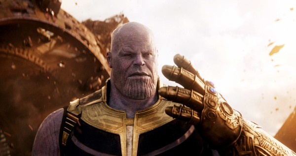 """Josh Brolin as Thanos in """"Avengers: Infinity War."""" Vestavia Hills native Kenneth Spivey helped create the character's Infinity Gauntlet prop. (Copyright Marvel/Copyright Walt Disney Studios Motion Pictures/Courtesy Everett Collection)"""