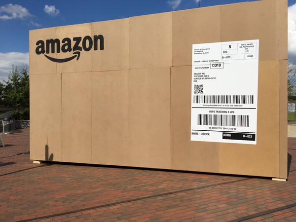 Local residents are asked to take part in the campaign by taking a picture or video by one of the three giant Amazon boxes placed at The Pizitz, Railroad Park and at Legion Field.