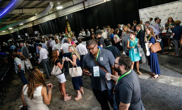 Dozens of entrepreneurs and innovators gather at the 2018 imerge conference hosted by the Economic Development Partnership of Alabama at the EDPA's campus in Birmingham.
