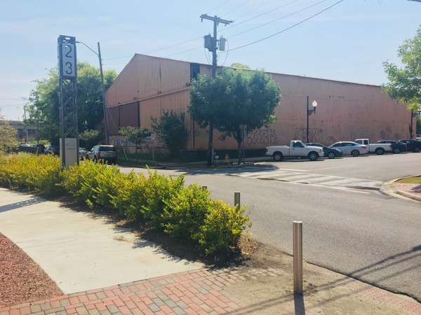 Vacant warehouse on First Avenue South that faces the Rotary Trail in Birmingham. (H2 Real Estate)