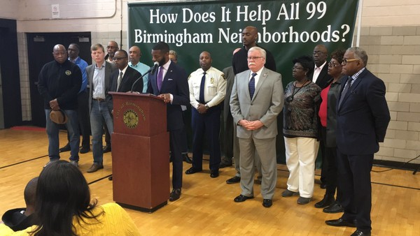 Birmingham Mayor Randall Woodfin announces Operation Step Up on Feb. 16, 2018. (Erin Edgemon/eedgemon@al.com)