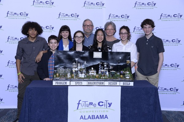 The Future City team from the Academy for Science and Foreign Language won third place nationally last week.