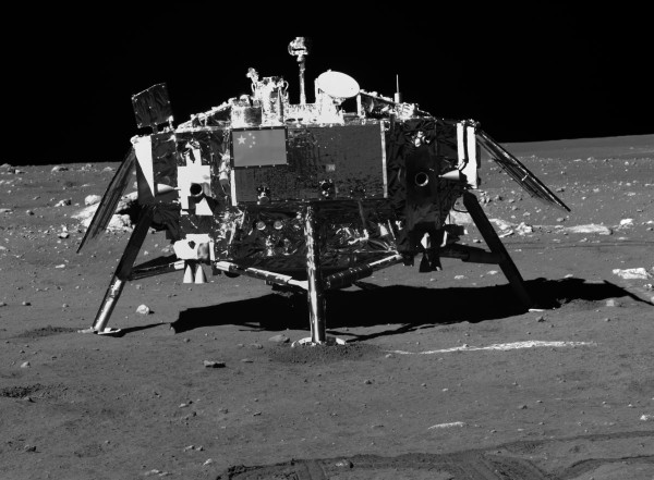China landed this lunar probe on the moon's surface in December of 2013. American leaders say the Chinese program doesn't come in peace. (Chinese release)