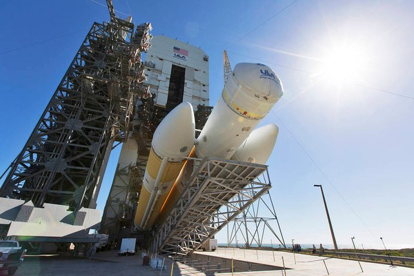 United Launch Alliance's discreet logo is on this Delta IV Heavy rocket as it is prepared for the recent launch of NASA's Parker Solar Probe. But what if NASA allowed other companies to put their names on its rockets and space ships for a fee? It's under consideration. (File)