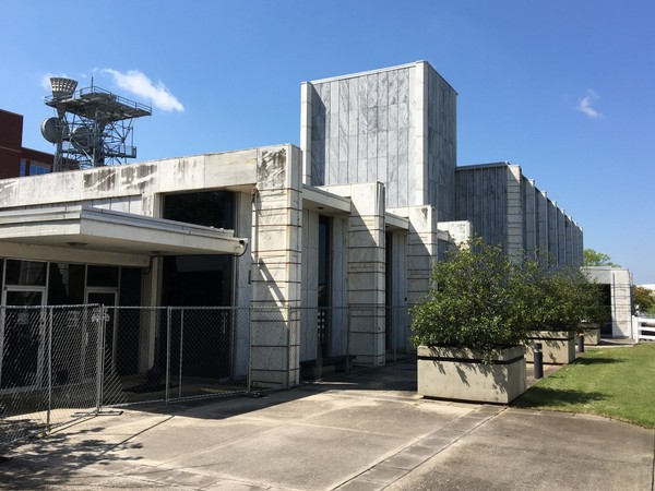 The abandoned annex of Huntsville city hall, located next to the administration building on Fountain Circle, is set to be demolished later this year. (Paul Gattis/pgattis@al.com)