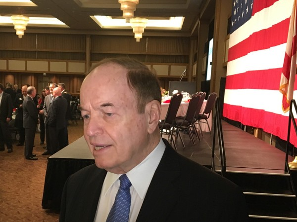 U.S. Sen. Richard Shelby spoke in Huntsville on Tuesday. (Paul Gattis/pgattis@al.com)