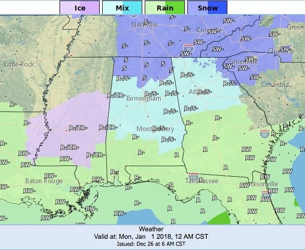 Little Rock Weather Map.Updated Snow Again Not One But Several Small Chances For Winter