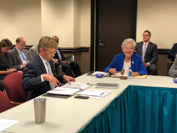 Alabama State Superintendent Eric Mackey and Governor Kay Ivey during the state board of education work session on Sept. 13, 2018, in Montgomery, Ala.