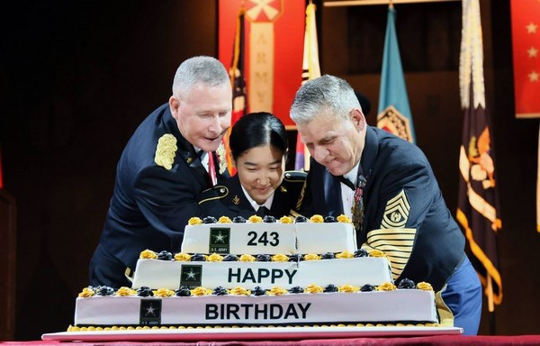 Eighth Army hosted the 243rd Army Birthday Ball June 1 at the SINTEX Convention Center in Hwaseong, South Korea. (Contributed photo/US Army)