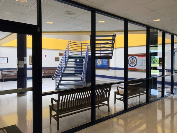 Additional entry doors were added to Madison County's Buckhorn High School to improve school safety.